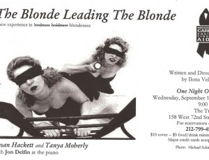 The Blonde Leading The Blonde – a new experience in blondeness