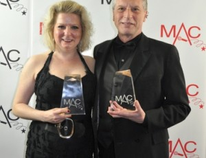 With Mark Janas, winning at the 2011 MAC Awards
