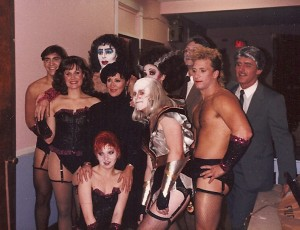 "As Columbia, ""Rocky Horror Picture Show"" with Chita Rivera (center)"